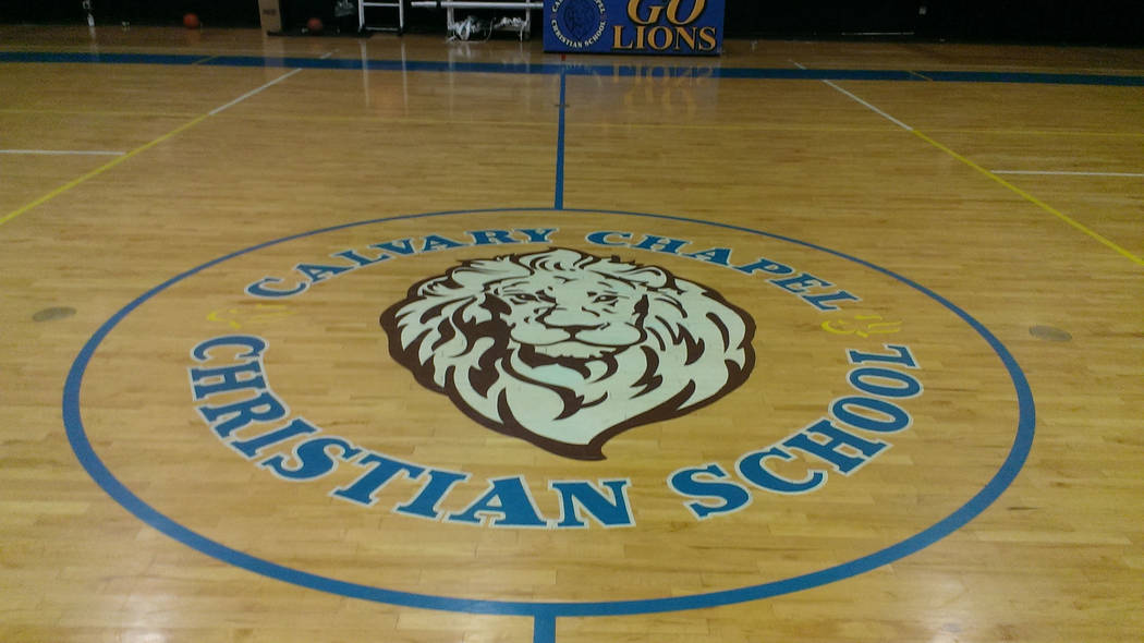 Jonathan Saxon/Las Vegas Review-Journal The basketball court at Calvary Chapel, where Dave Bliss was recently hired as the athletic director and boys basketball coach.