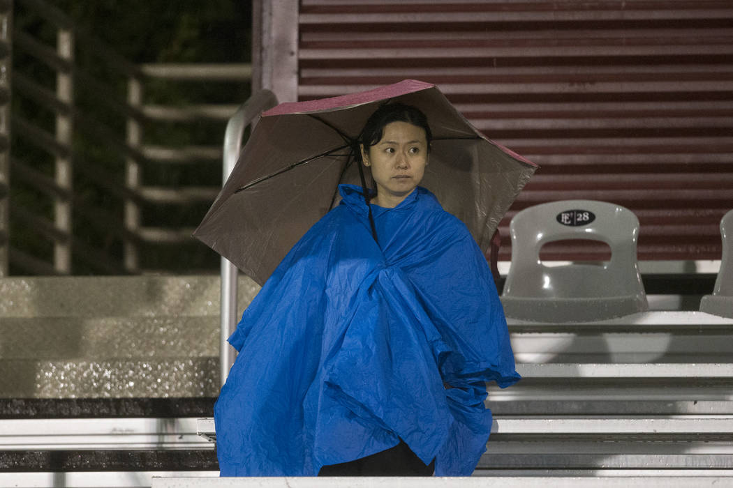 Amber Wang attends a football game between Green Valley and Faith Lutheran at Faith Lutheran Middle School and High School in Las Vegas on Friday, Sept. 8, 2017. Erik Verduzco Las Vegas Review-Jou ...
