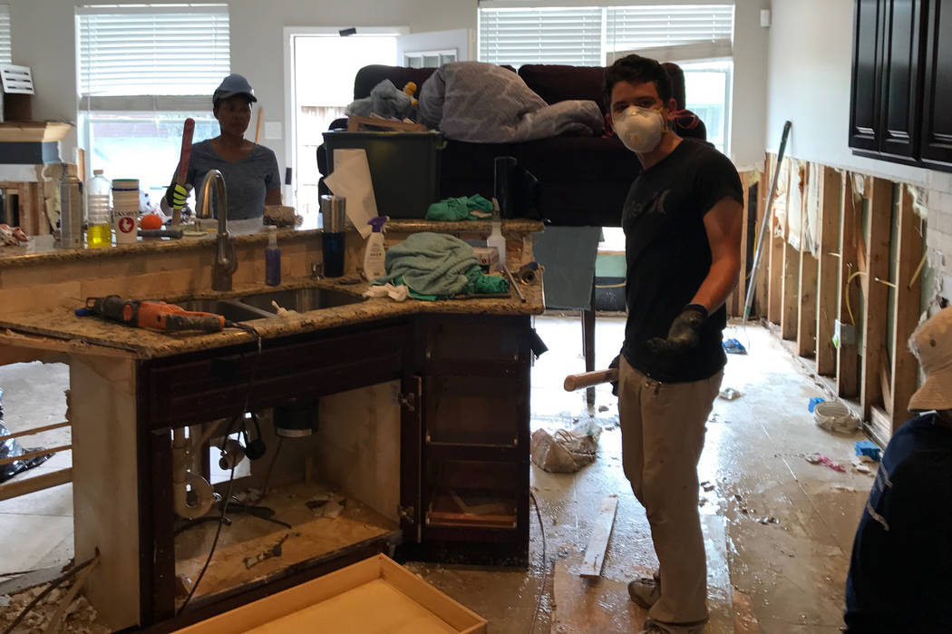 Foothill High golfer Noah MacFawn went to the Houston area to help residents recover from Hurricane Harvey. In the process, he gained a new perspective on golf and life. (MacFawn family)