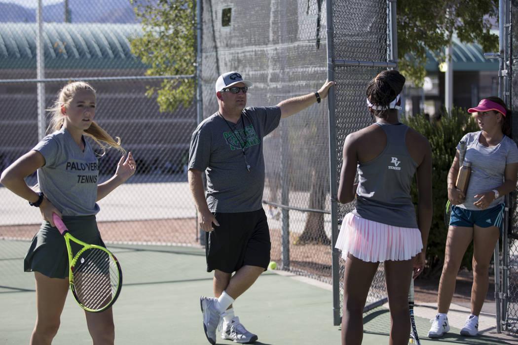 Palo Verde's tennis head coach Richard Coop during a team practice at Palo Verde High School in Las Vegas, Wednesday, Sept. 27, 2017. Erik Verduzco Las Vegas Review-Journal @Erik_Verduzco