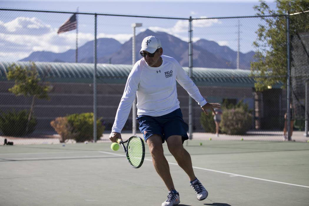 Palo Verde's girls assistant coach Scoty Graber during a team practice at Palo Verde High School in Las Vegas, Wednesday, Sept. 27, 2017. Erik Verduzco Las Vegas Review-Journal @Erik_Verduzco