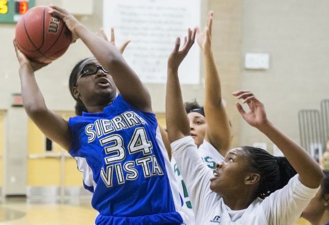 Shania Harper (34) is one of four returning starters for the Mountain Lions. Benjamin Hager/Las Vegas Review-Journal