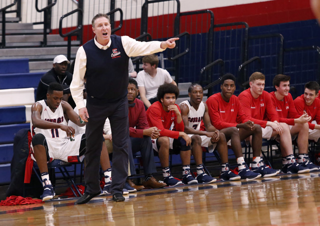 Coronado head coach Jeff Kaufman has to replace a talented senior class from last year, but feels his team may be even deeper this season. (Christian K. Lee/Las Vegas Review-Journal) @chrisklee_jpeg