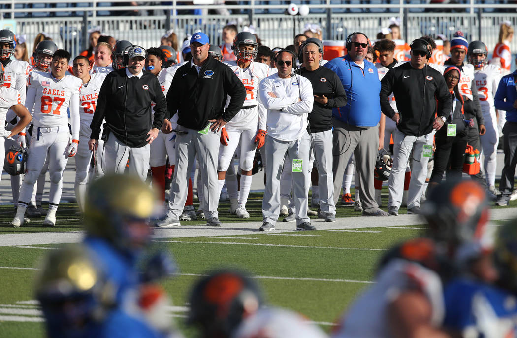Bishop Gorman defeats Reed 48-7 for NIAA 4A state championship in Reno, Nev., on Saturday, Dec. 2, 2017. Cathleen Allison/Las Vegas Review Journal @NVMomentum