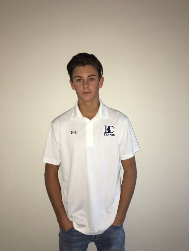 Boulder City's Andre Pappas is a member of the Las Vegas Review-Journal's all-state boys tennis team.