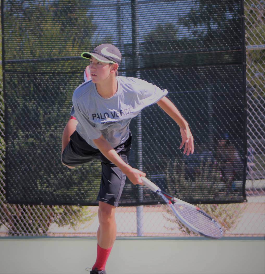 Palo Verde's Axel Botticelli is a member of the Review-Journal's all-state boys tennis team.
