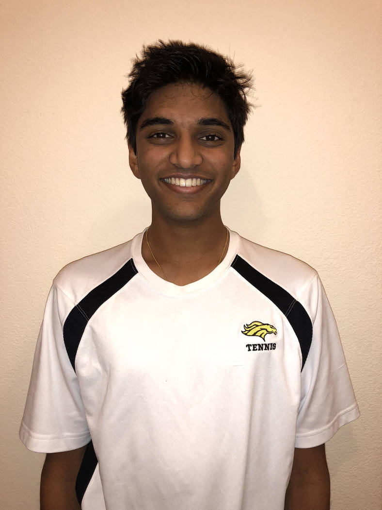 Clark's Simran Shah is a member of the Review-Journal's all-state boys tennis team.
