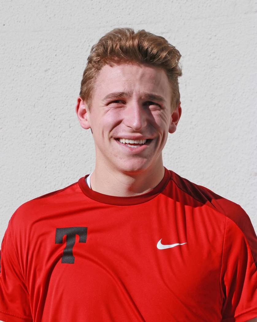 Truckee's Zach Haas is a member of the Las Vegas Review-Journal's all-state boys tennis team.