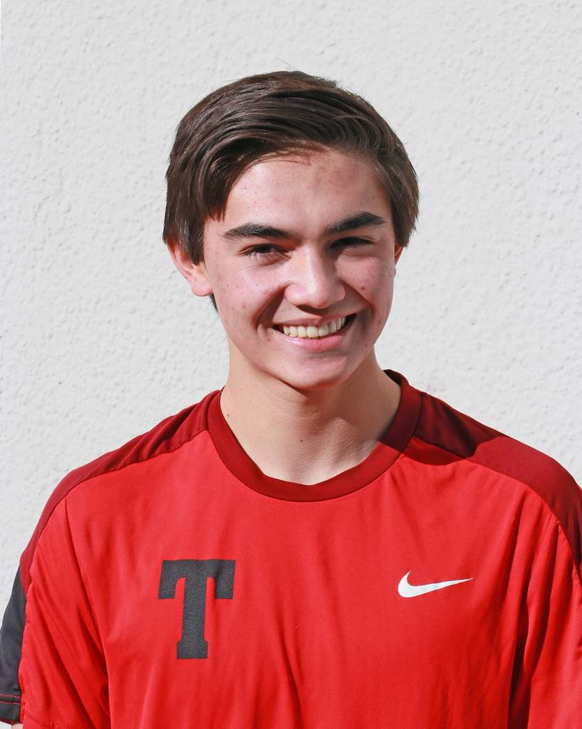 Truckee's Zach Larson is a member of the Las Vegas Review-Journal's all-state boys tennis team.
