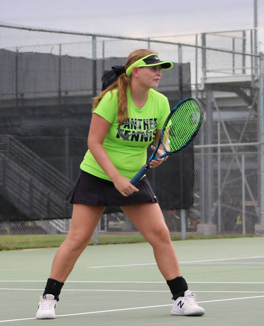 Palo Verde's Shelby Graber is a member of the Review-Journal's all-state girls tennis team.