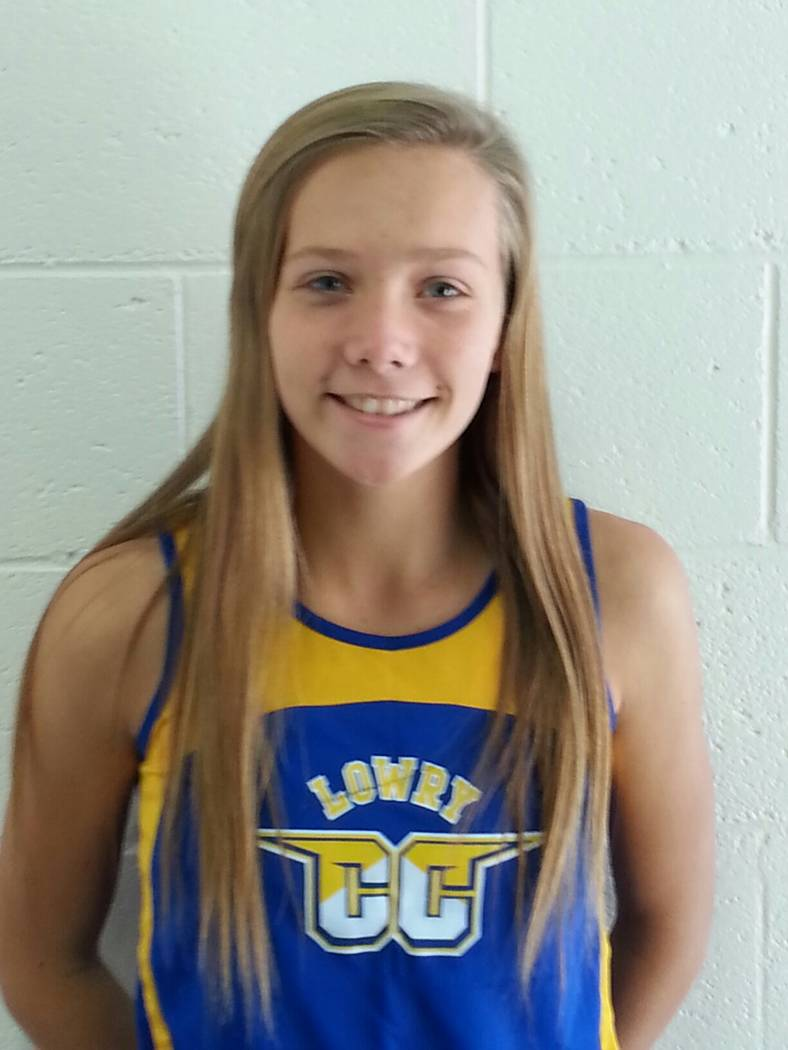 Lowry's Rebecca Kuskie is a member of the Las Vegas Review-Journal's all-state girls cross country team.