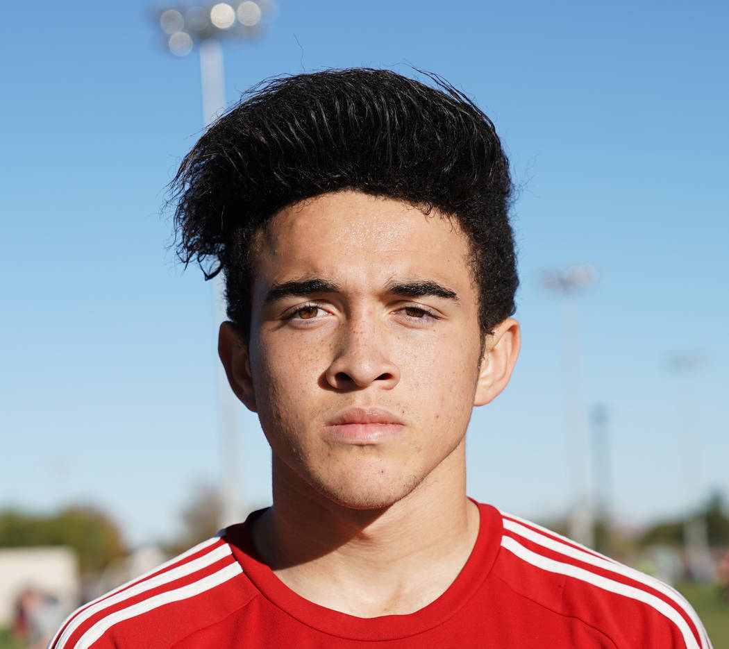 Palo Verde's Hudson Huckfeldt is a member of the Las Vegas Review-Journal's all-state boys soccer team.