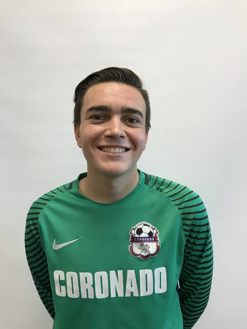 Coronado's Bradley Bolduc is a member of the Las Vegas Review-Journal's all-state boys soccer team.