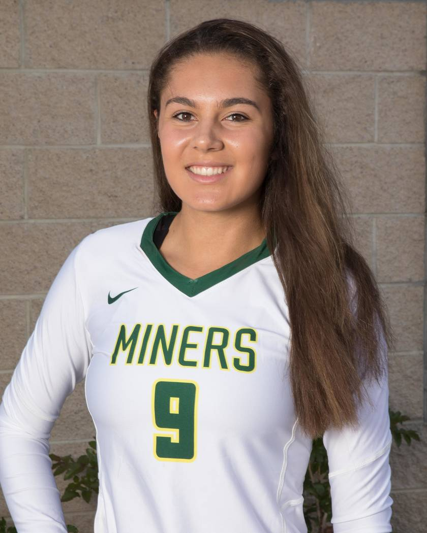 Bishop Manogue's Mary Redl-Harge is a member of the Las Vegas Review-Journal's all-state girls volleyball team.