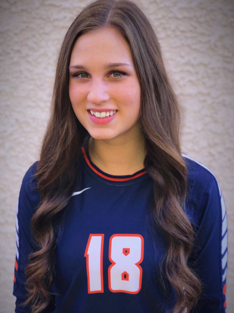 Bishop Gorman's Sarah Lychock is a member of the Las Vegas Review-Journal's all-state girls volleyball team.