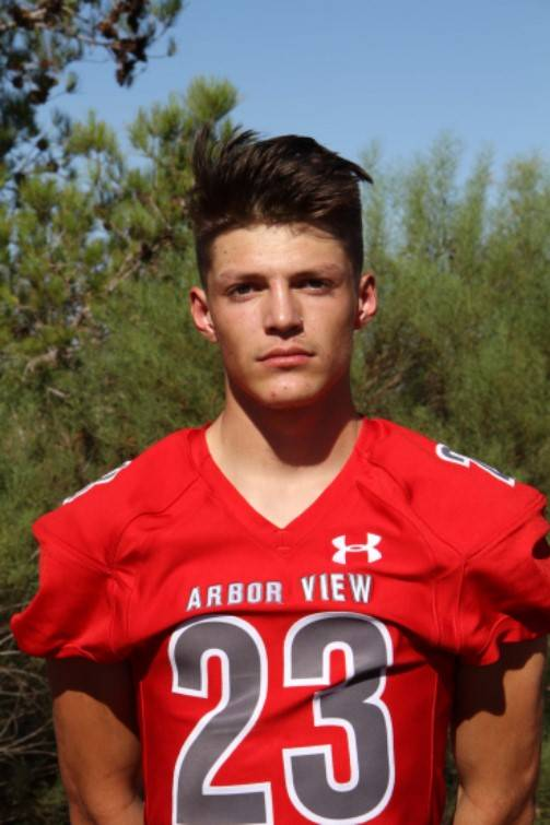 Arbor View's Deago Stubbs is a member of the Las Vegas Review-Journal's all-state football team.