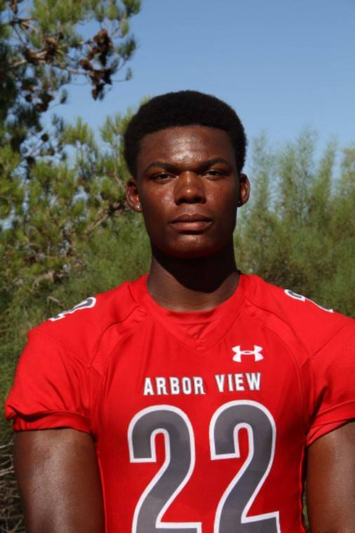 Arbor View's Elijah Wade is a member of the Las Vegas Review-Journal's all-state football team.