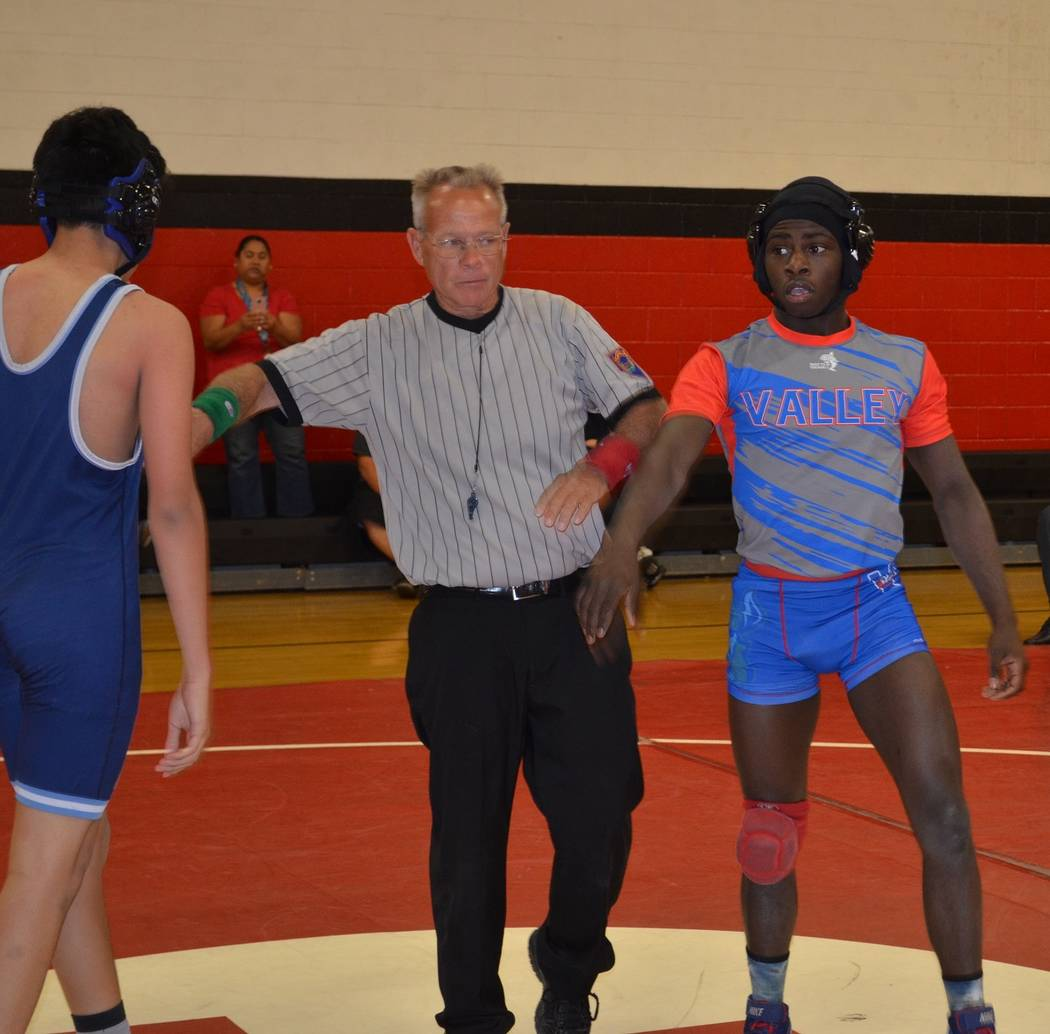 Valley 145-pounder Xzavier Maheia (right) is aiming for a berth into next week's state tournament. Maheia needs to finish in the top three of his weight class in the Sunrise Region Wrestling Tourn ...