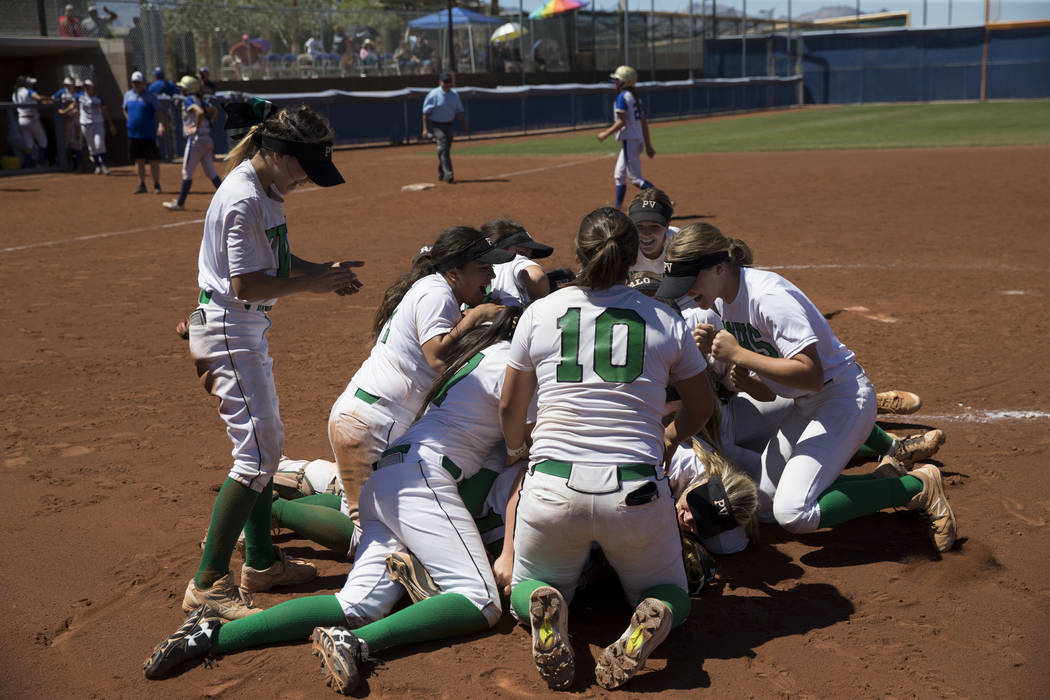 Palo Verde will look to defend its Class 4A softball title. Erik Verduzco/Las Vegas Review-Journal
