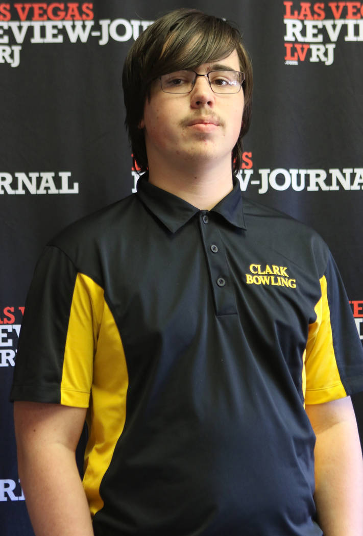 Clark High School bowling team's Caleb Andrews is photographed at the Review-Journal in Las Vegas, Wednesday, March 14, 2018. He is on the All-Star Team for Best of Nevada Preps. Heidi Fang Las Ve ...