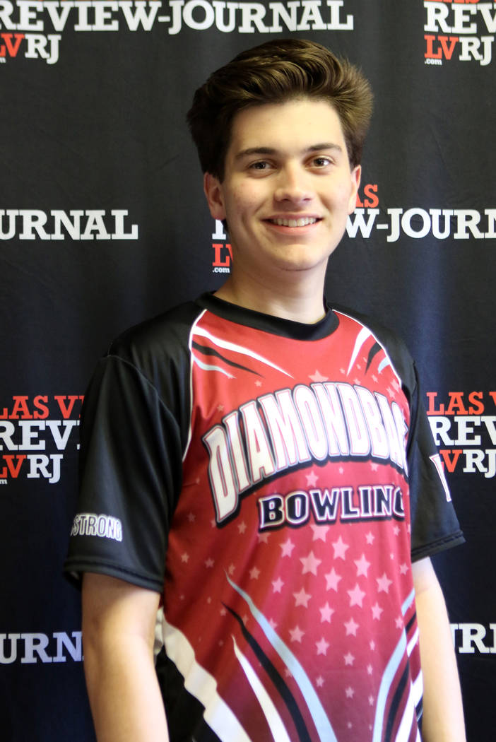 Zach Dobbs from Desert Oasis High School's bowling team is photographed at the Review-Journal in Las Vegas, Wednesday, March 14, 2018. He is on the All-Star Team for Best of Nevada Preps. Heidi Fa ...