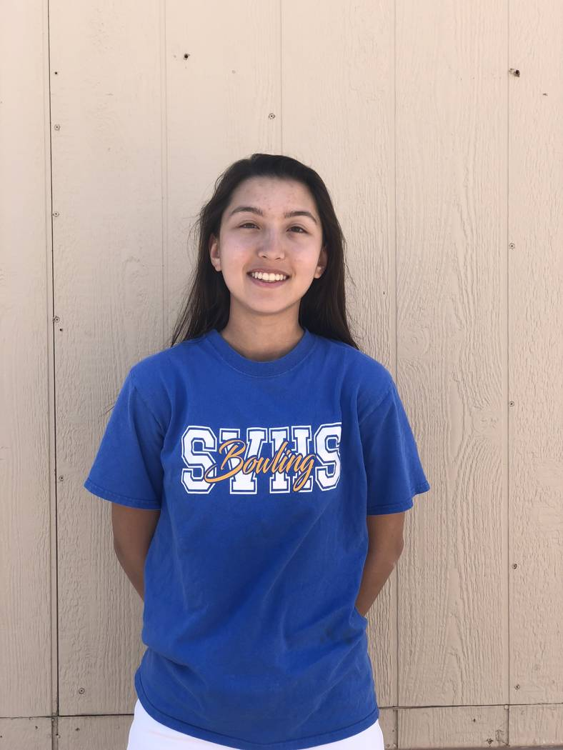 Sierra Vista's Vanessa Fuzie is a member of the Las Vegas Review-Journal's all-state girls bowling team.