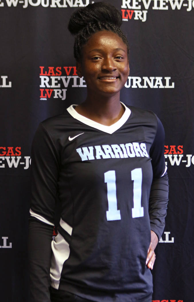 Shydaé Elam from Western High School's flag football team is photographed at the Review-Journal in Las Vegas, Wednesday, March 14, 2018. She is on the All-Star Team for Best of Nevada Preps.  ...