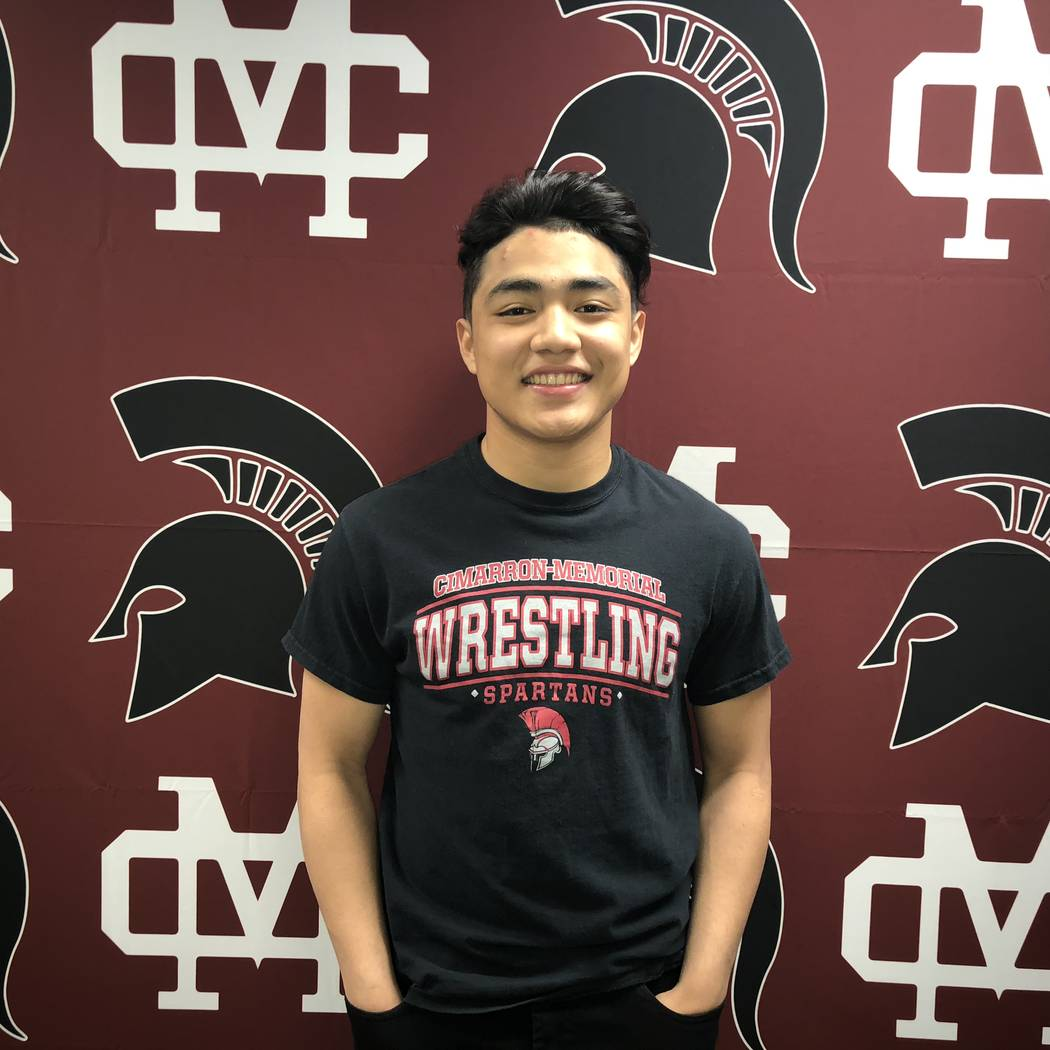 Cimarron-Memorial's Amado Castellon is a member of the Las Vegas Review-Journal's all-state wrestling team.