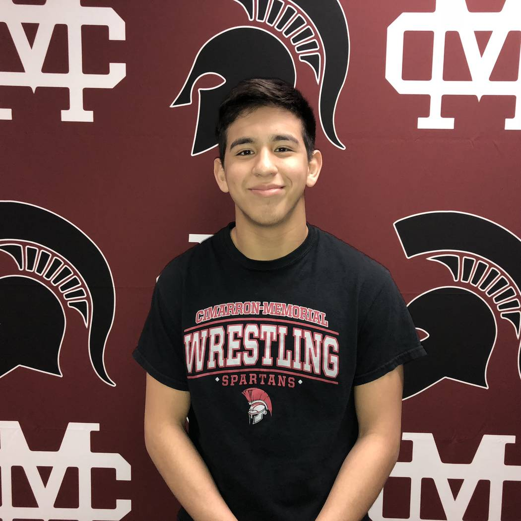 Cimarron-Memorial's Daniel Rodriguez is a member of the Las Vegas Review-Journal's all-state wrestling team.