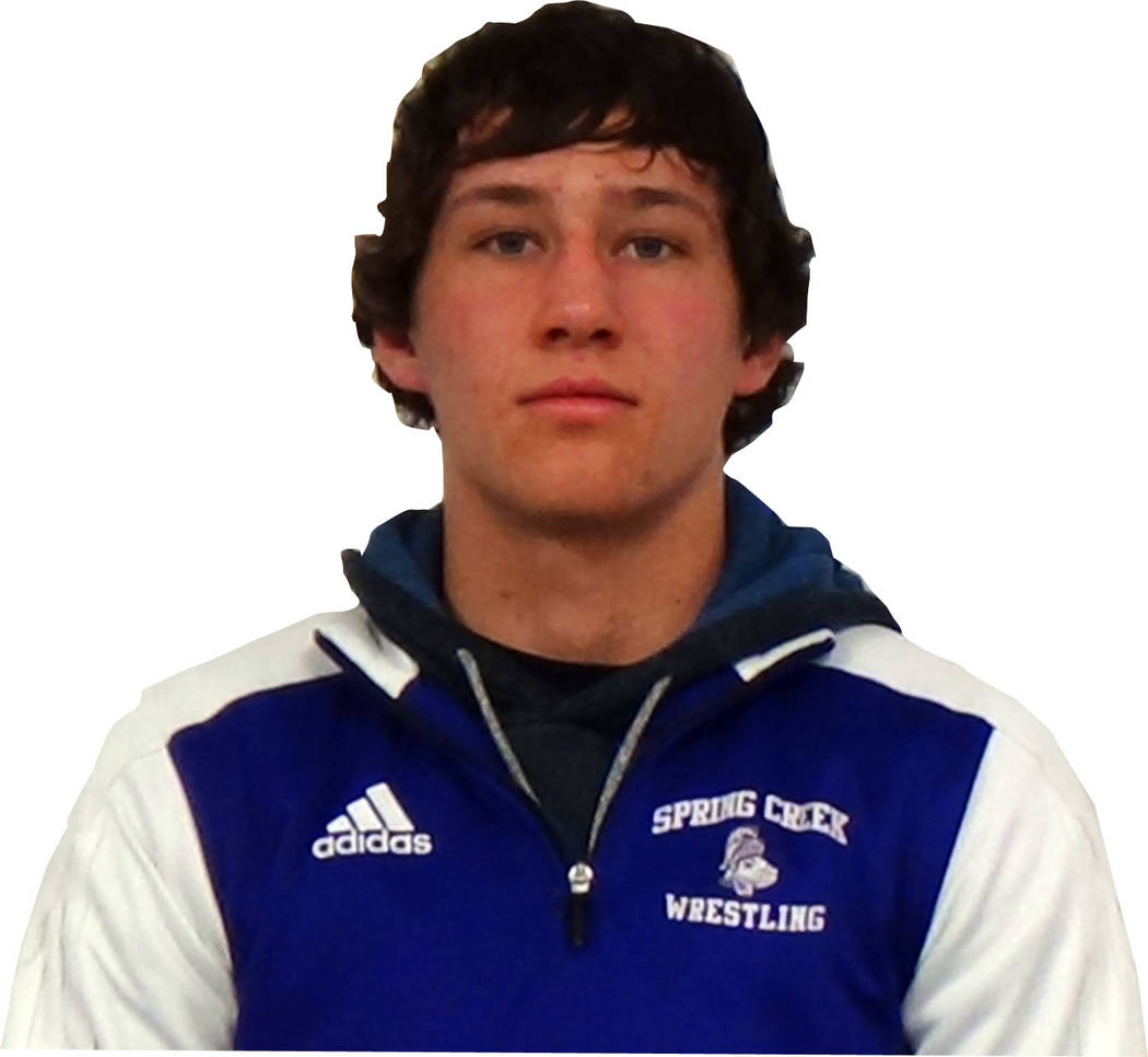 Spring Creek's Dyllan Fuchs is a member of the Las Vegas Review-Journal's all-state wrestling team.