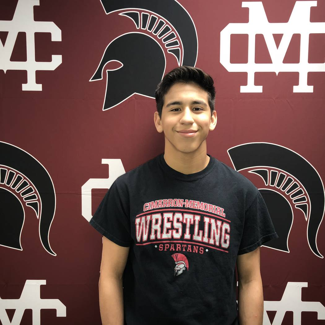 Cimarron-Memorial's Nathanial Rodriguez is a member of the Las Vegas Review-Journal's all-state wrestling team.