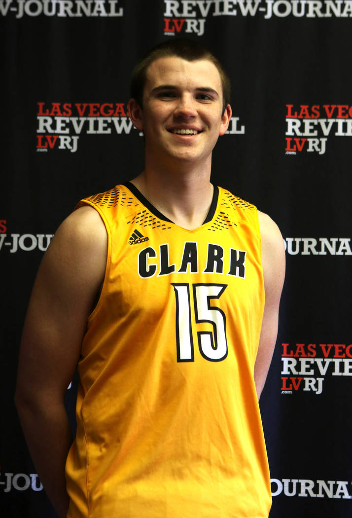 Clark High School basketball standout James Bridges is photographed in Las Vegas, Tuesday, March 13, 2018 at the Review-Journal. He is on the All-Star Team for Best of Nevada Preps. Heidi Fang Las ...