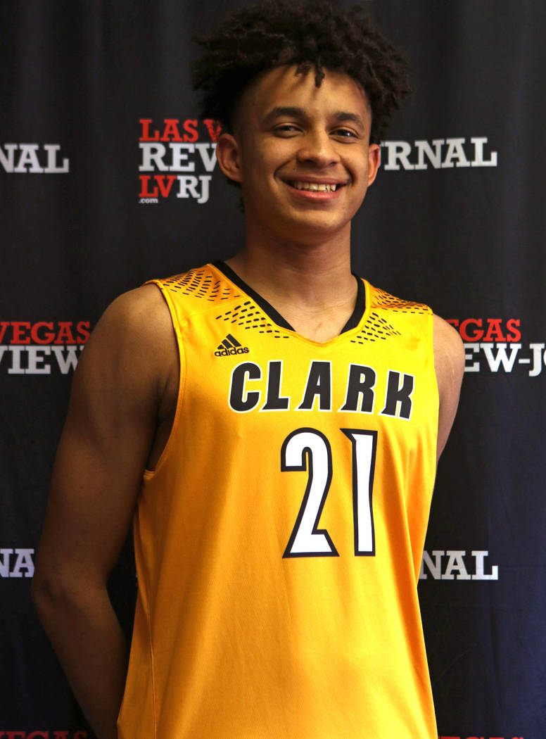 Jalen Hill from Clark High School's basketball team is photographed in Las Vegas, Tuesday, March 13, 2018 at the Review-Journal. He is on the All-Star Team for Best of Nevada Preps. Heidi Fang Las ...