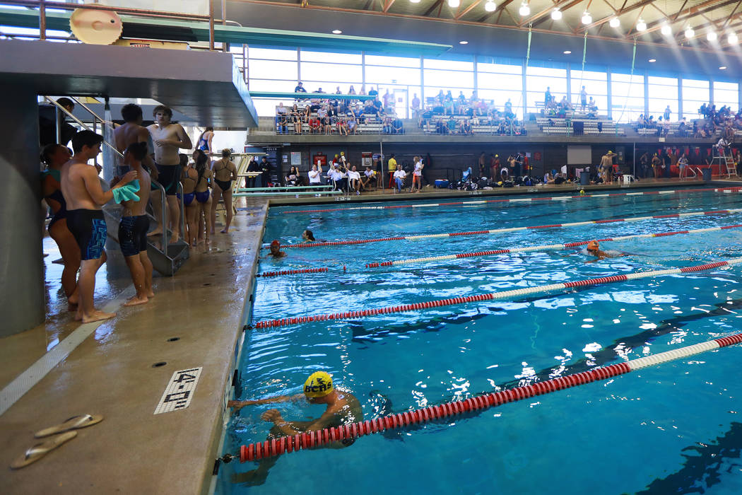 A view of the regional diving competitions at UNLV's Buchanan Natatorium in Las Vegas on Monday, May 7, 2018. Andrea Cornejo Las Vegas Review-Journal @dreacornejo