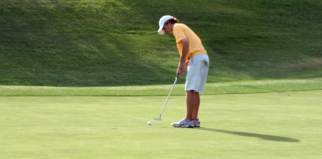 Boulder City's Blake Schaper is a member of the Las Vegas Review-Journal's all-state boys golf team.