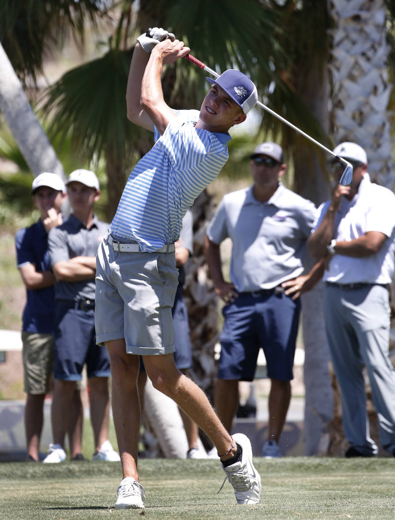 Centennial's Cole Thompson is a member of the Las Vegas Review-Journal's all-state boys golf team.