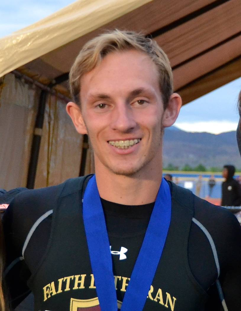Faith Lutheran's Sever Stewart is a member of the Las Vegas Review-Journal's all-state track and field team.