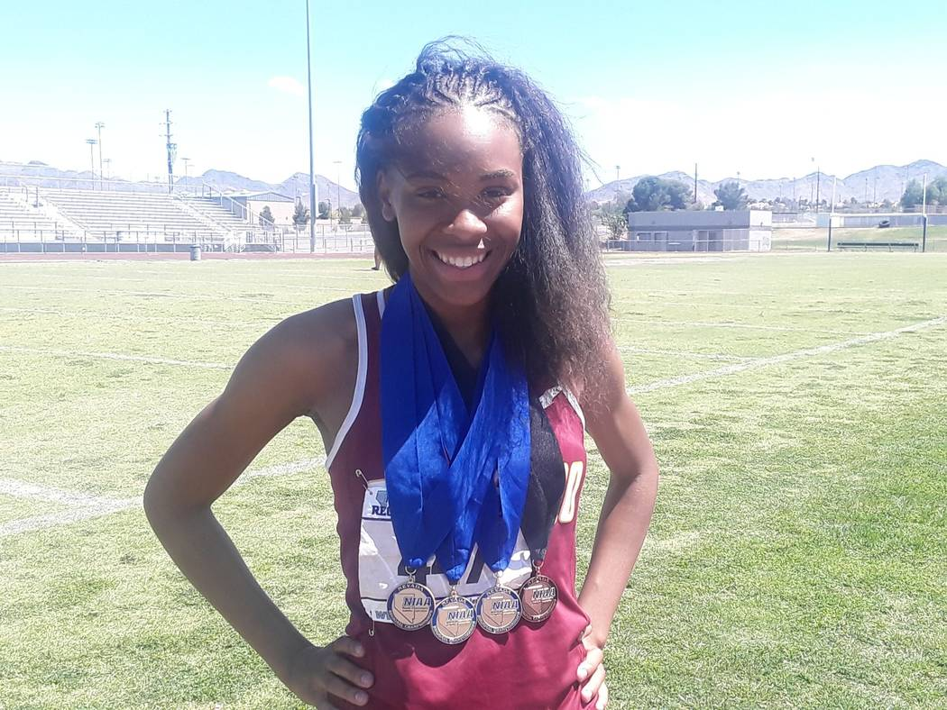 Eldorado's Mohn'Ai' Roberson is a member of the Las Vegas Review-Journal's all-state girls track and field team.