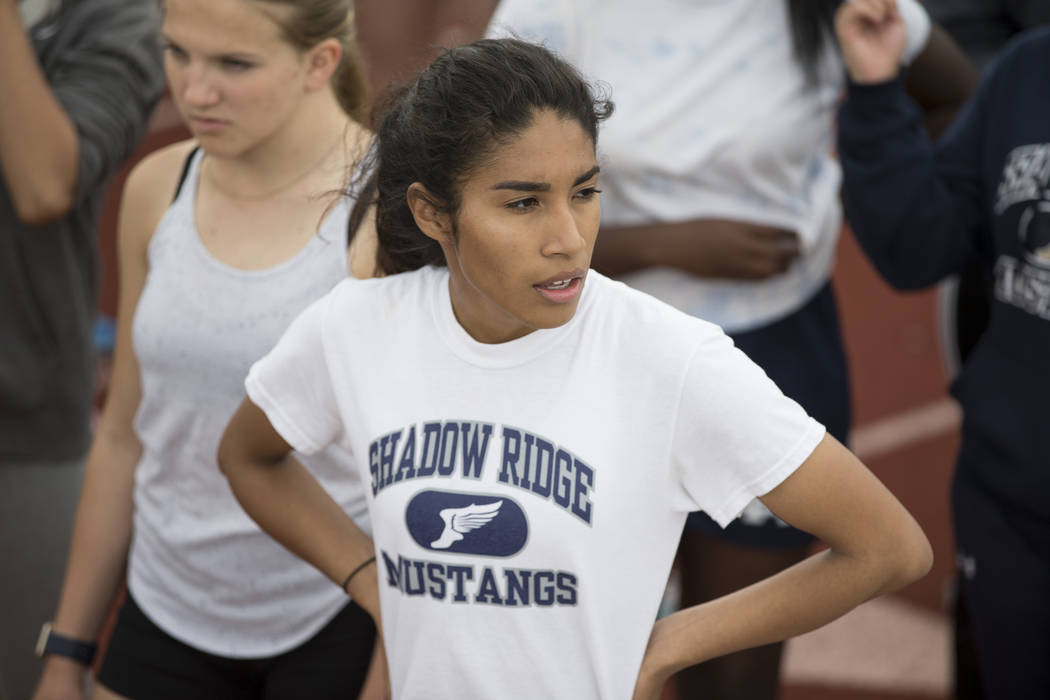 Shadow Ridge's Dayvian Diaz is a member of the Las Vegas Review-Journal's all-state girls track and field team.