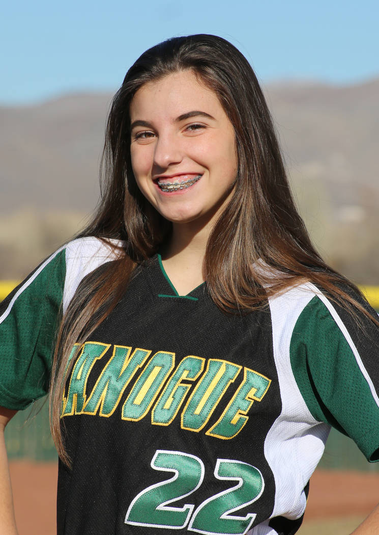 Bishop Manogue's Chelie Senini is a member of the Las Vegas Review-Journal's all-state softball team.