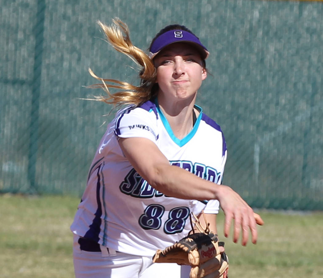 Silverado's Megan Johnson is a member of the Las Vegas Review-Journal's all-state softball team.