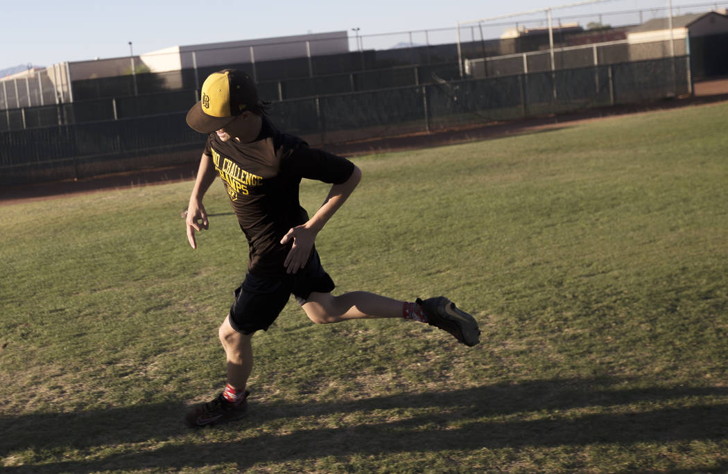 Bonanza High School's Robert Shook runs during drills at practice at Bonanza High School in Las Vegas, Tuesday, July 3, 2018. Rachel Aston Las Vegas Review-Journal @rookie__rae