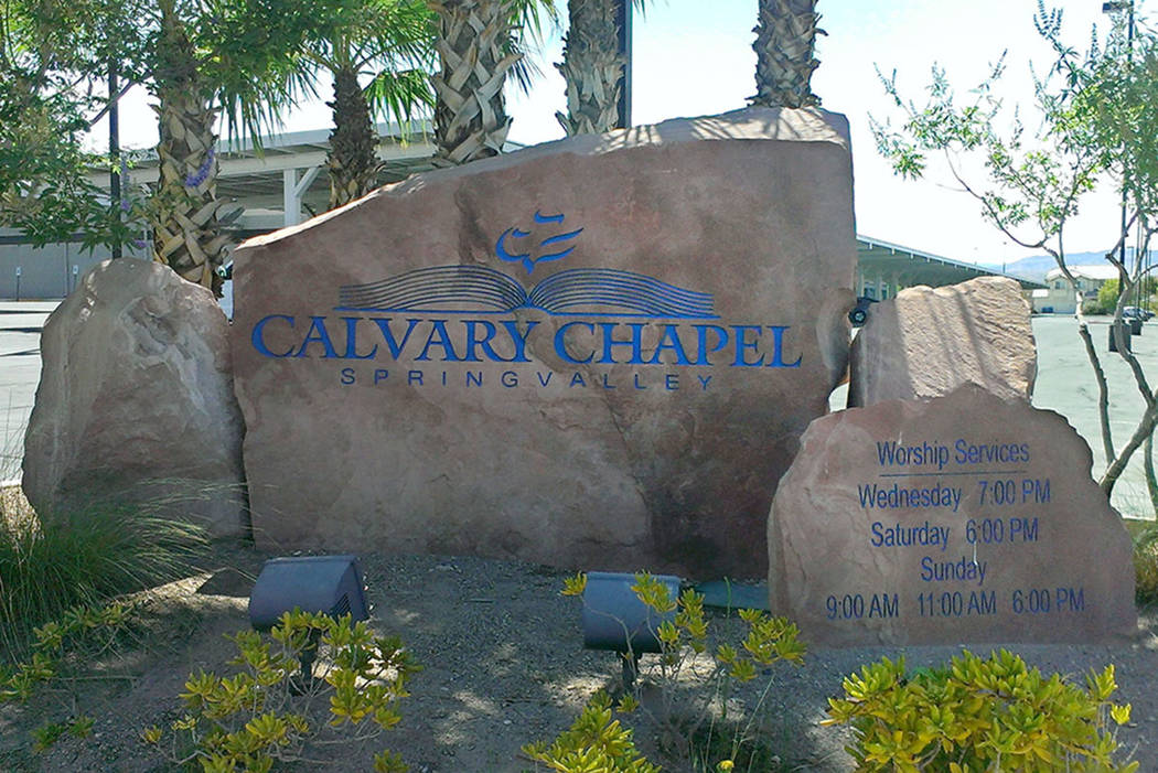The entrance to Calvary Chapel. (Jonathan Saxon/Las Vegas Review-Journal)