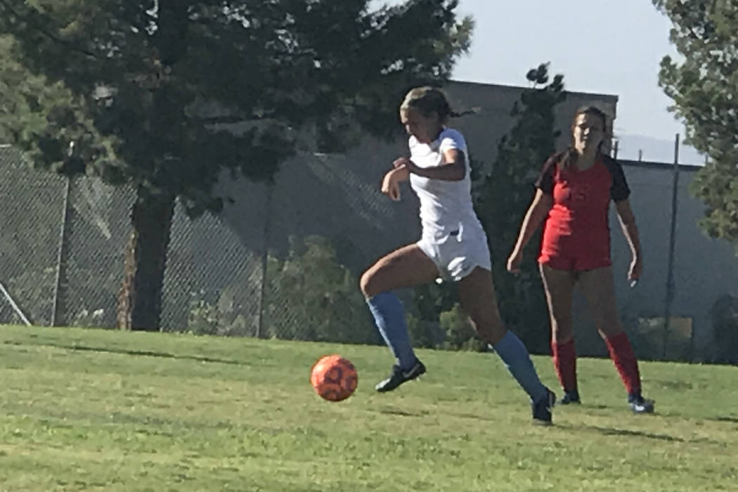 Coronado and Foothill compete in girls soccer on Wednesday, Sept. 12, 2018 at Coronado. The Cougars won, 3-0. (Courtesy Renee Coffman)