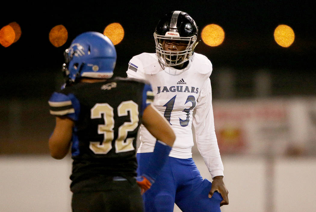 Desert Pine High School's Darnell Washington (13) during a game against Sierra Vista in Las Vegas, Friday, Sept. 14, 2018. Rachel Aston Las Vegas Review-Journal @rookie__rae