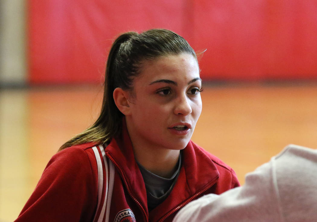 Arbor View's High School wrestler Peyton Prussin speaks during an interview with the Las Vegas Review-Journal on Tuesday, Nov. 20, 2018, in Las Vegas. Bizuayehu Tesfaye/Las Vegas Review-Journal @b ...