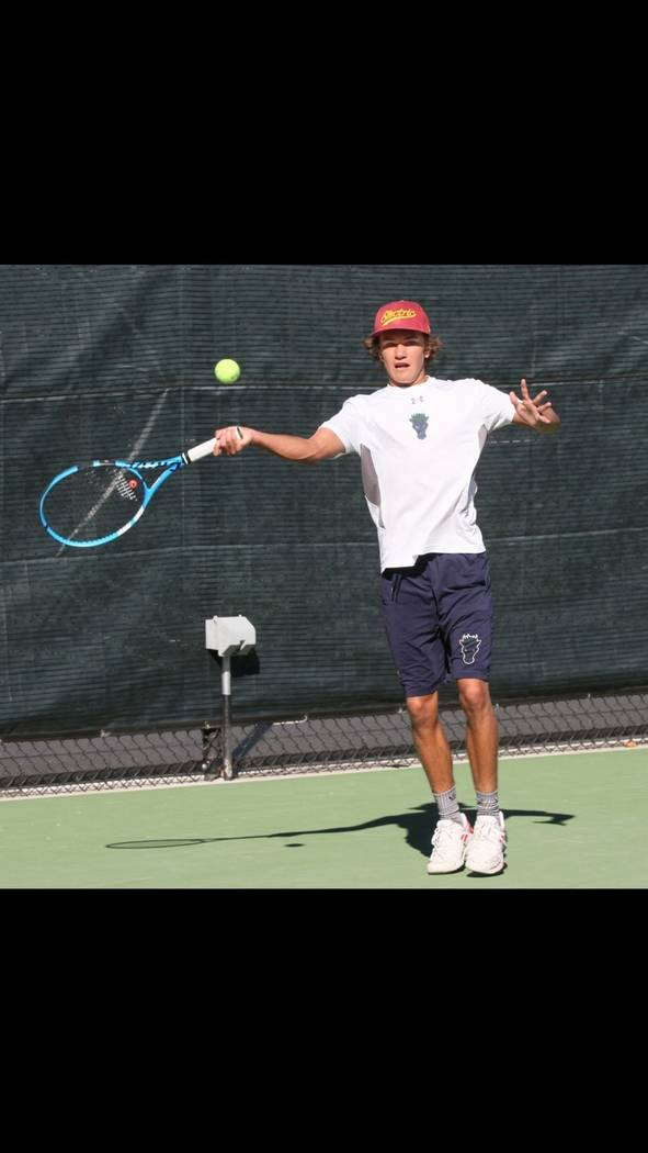Damonte Ranch's Zeke Brooke is a member of the Nevada Preps all-state boys tennis team.