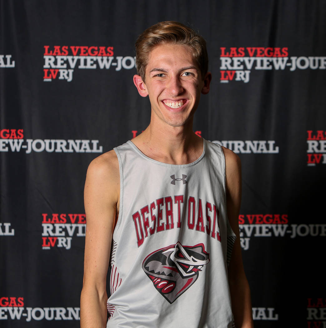 Desert Oasis' Connor Nicholas is a member of the Nevada Preps all-state boys cross country team.