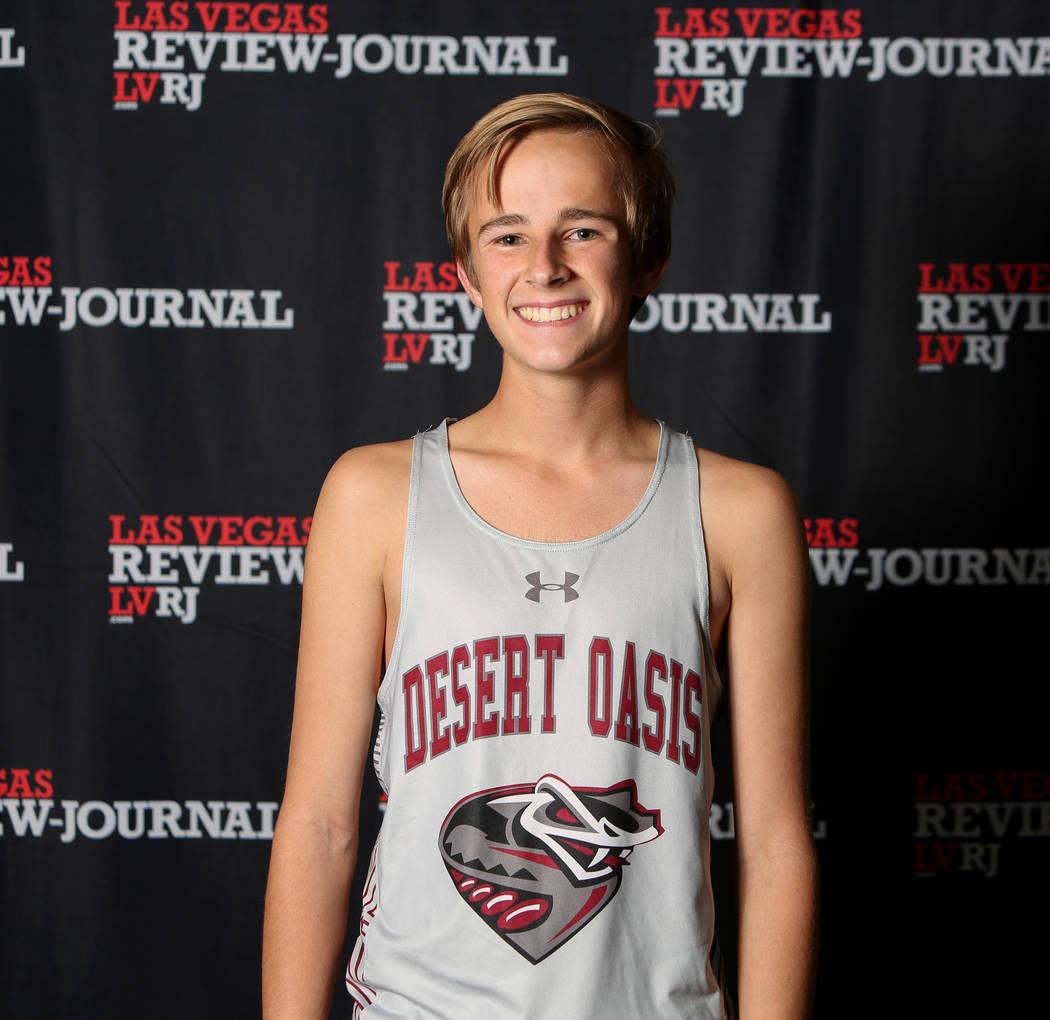 Desert Oasis' Landon Morrison is a member of the Nevada Preps all-state boys cross country team.