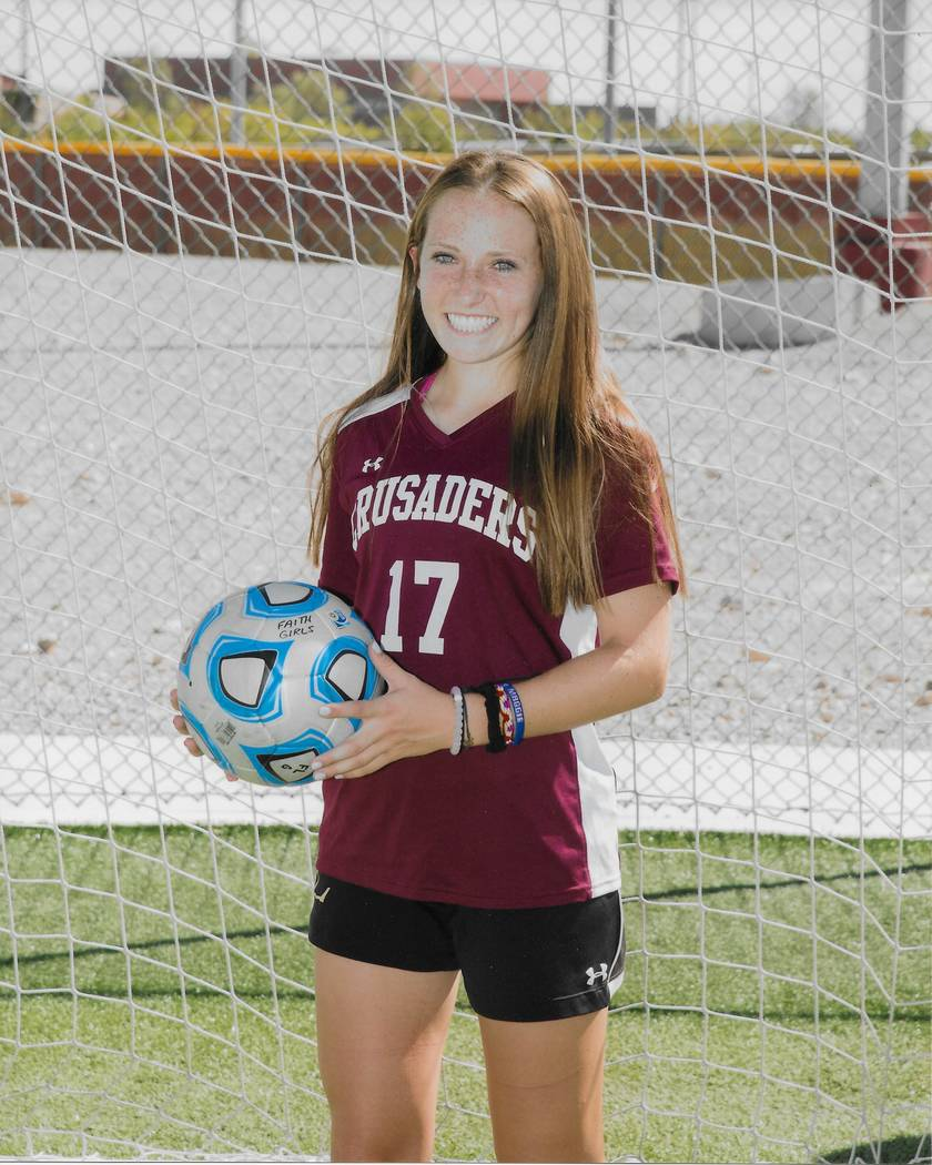 Faith Lutheran's Maggie Shuirman is a member of the Nevada Preps all-state girls soccer team.